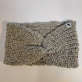 Bandeau côtes perlées RECYCLÉ  'aluminium' pour femme