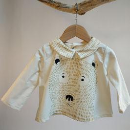 Blouse BIO 'ours' pour enfant 0 à 4 ans