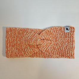 Bandeau torsade RECYCLÉ  'orange corail' pour femme