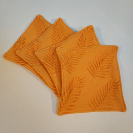 Lot de 4 lingettes BIO 'orange'