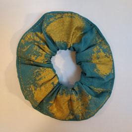 Chouchou BIO 'turquoise et or'
