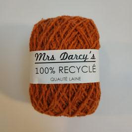 Pelote qualité laine RECYCLÉE 'orange rouille'