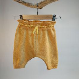 Pantacourt 'jaune bouton d'or' rétro RECYCLÉ pour enfant 0 à 4 ans