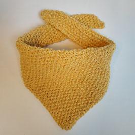 Bavoir bandana RECYCLÉ 'jaune' pour enfant