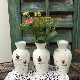 """Vase """"Mayflower"""" mit Fingerabdrücken"""