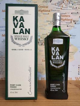 Kavalan - Concertmaster - Port Cask - 40% ( TAIWAN )