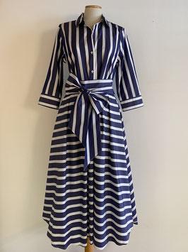 GRAUBNER | Kleid Blockstreifen - blau/weiß