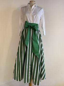 GRAUBNER | Kleid Blockstreifen - grün/weiß