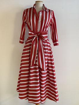 GRAUBNER | Kleid Blockstreifen - rot/weiß