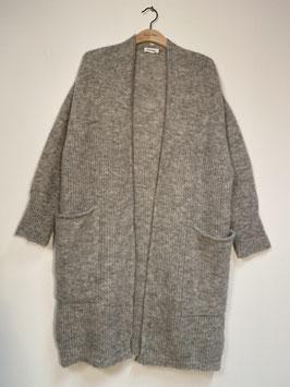 AMERICAN VINTAGE | Long-Cardigan East - gris chine