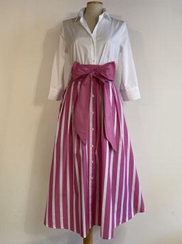 GRAUBNER | Kleid Blockstreifen - pink/weiß