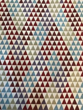 Loneta gobelino triángulos colores