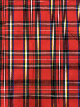 Cuadro escocés rojo