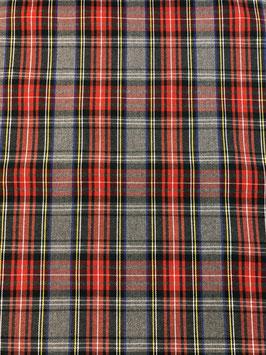 Cuadro escocés gris y rojo