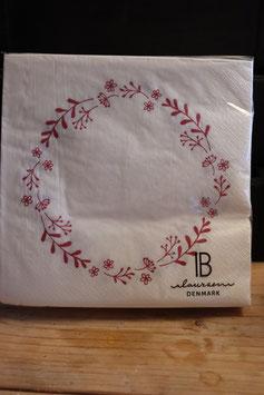IB Laursen Großpackung Servietten Blumenkranz