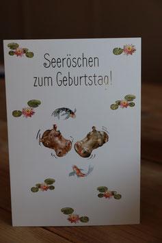 """""""Seeröschen zum Geburtstag"""" Postkarte"""