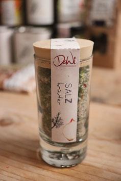 Salz Kräuter im Korkenglas