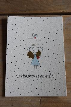 """Postkarte """" Schön, dass es dich gibt Opa"""""""