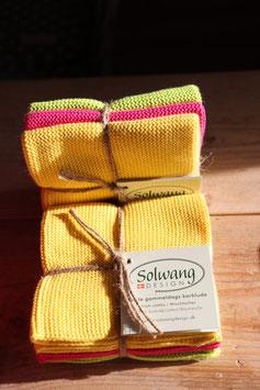 Solwang Wischtücher Gelb,Pink,Lime Kombi