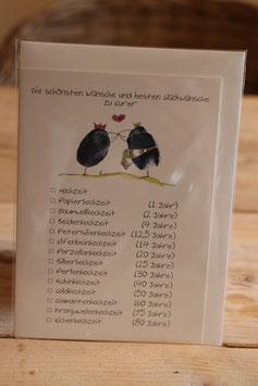 """KRaejen Doppelkarte """"Die schönsten Wünsche und besten Glückwünsche zu Eurer - Hochzeiten"""""""