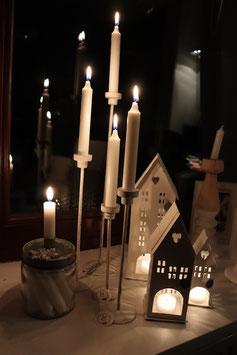 VL Home Metall Kerzenständer weiß