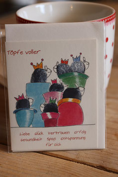 "KRaejen Minikarte ""Töpfe voller Glück"""