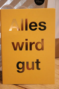 "cityproducts Postkarte ""Alles wird gut"""