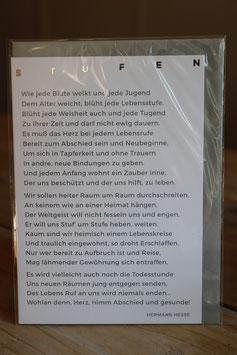 """""""Stufen"""" Trauerkarte"""