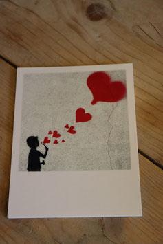 """Polaroid Postkarte """"Pusteherz"""""""