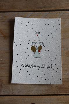 """Postkarte"""" Schön,dass es dich gibt Oma"""""""