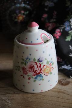 GreenGate Sugar pot Belle white