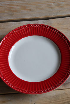 GreenGate Plate small Alice red