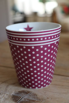 "Krasilnikoff  Happy Mug"" plum dots"""