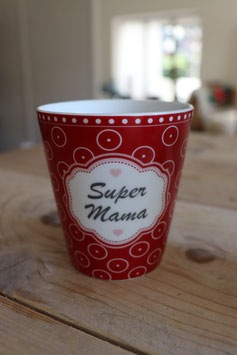 "Krasilnikoff Happy Mug ""Super Mama"""