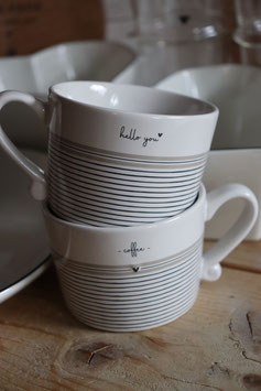 """Bastion Collections  Tasse  """"Hello you/coffee"""