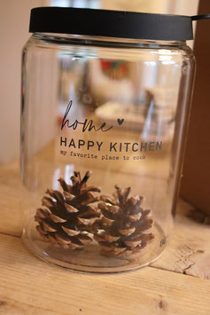 "Bastion Collections Aufbewahrungsglas ""home-happy kitchen"""