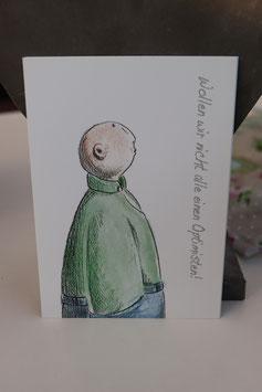 "Susanne Boerner Postkarte "" Optimist"""