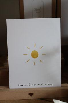Eulenschnitt Postkarte Lass die Sonne in dein Herz
