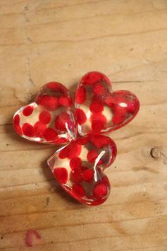 Räder kleine Herzen klar mit roten Tupfen