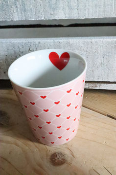 Happy Mug Pink Hearts