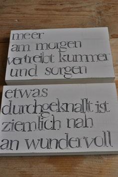 iopla Textplatten zum Hängen