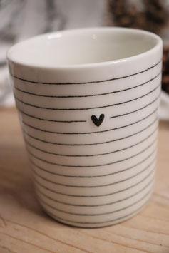 """BC Mug """"Heart and Stripes"""""""