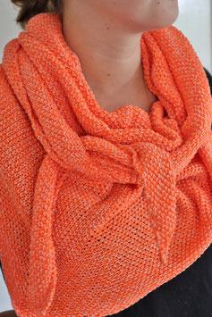 Dreieckstuch Strickoptik orange
