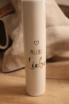 "Eulenschnitt Vase ""Alles Liebe"""
