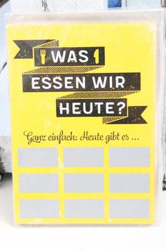 """Rubbel Postkarte """"Was essen wir heute?"""""""