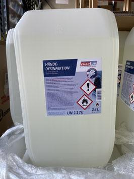 """Desinfektionsmittel """"Hände Desinfektion""""  //  25 Liter"""