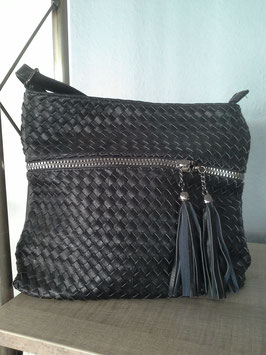 Handtasche geflochtene Lederoptik