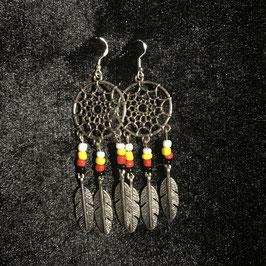 Boucles d'oreilles Attrape-rêve Amérindiennes