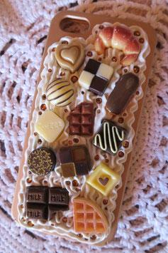 Coque IPHONE5/5S/5SE , Choco Caramel vanille