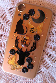 Coque IPHONE XR , Totem cerf noir
